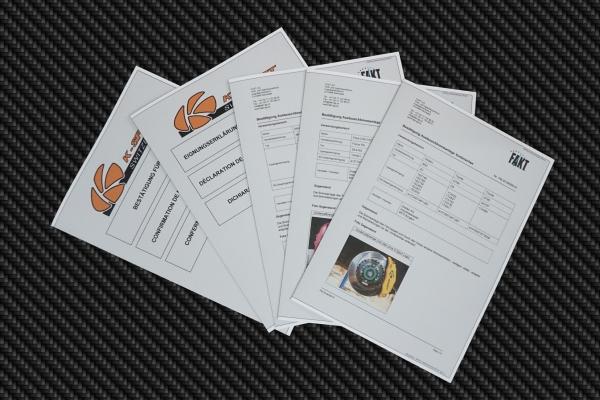 K-Sport CH-Gutachten für Gewindefahrwerke und Sportbremsen / Big Brake Kits