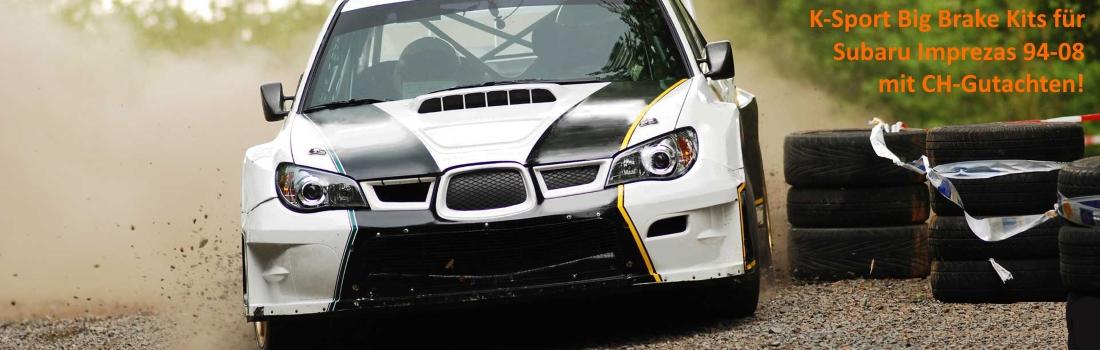 K-Sport Bremsen / Big Brake Kits für Subaru Impreza 94-08 inkl. WRX und STI mit CH-Gutachten